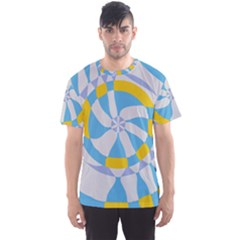 Abstract flower in concentric circles Men s Sport Mesh Tee