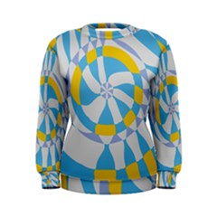 Abstract flower in concentric circles Sweatshirt
