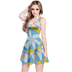 Abstract flower in concentric circles Sleeveless Dress