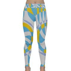Abstract flower in concentric circles Yoga Leggings