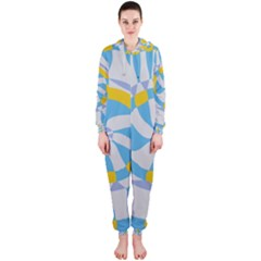 Abstract flower in concentric circles Hooded OnePiece Jumpsuit