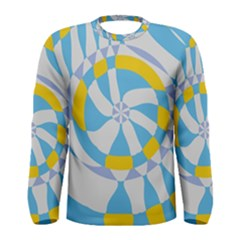 Abstract Flower In Concentric Circles Men Long Sleeve T Shirt