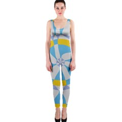 Abstract flower in concentric circles OnePiece Catsuit