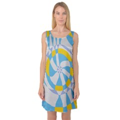 Abstract flower in concentric circles Sleeveless Satin Nightdress