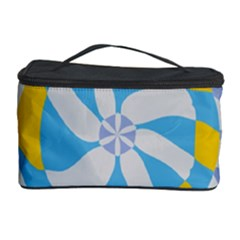 Abstract Flower In Concentric Circles Cosmetic Storage Case