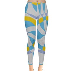 Abstract flower in concentric circles Leggings