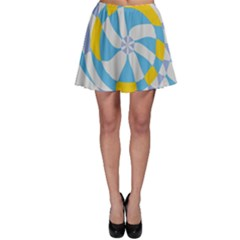 Abstract flower in concentric circles Skater Skirt