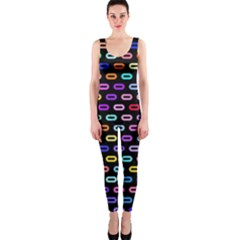 Colorful round corner rectangles pattern OnePiece Catsuit