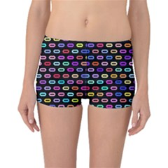 Colorful round corner rectangles pattern Boyleg Bikini Bottoms