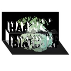 Spirit Of Woods Happy Birthday 3d Greeting Card (8x4)