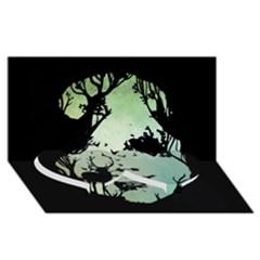 Spirit Of Woods Twin Heart Bottom 3D Greeting Card (8x4)