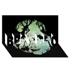 Spirit Of Woods Best Bro 3d Greeting Card (8x4)