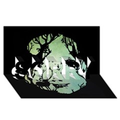 Spirit Of Woods Sorry 3d Greeting Card (8x4)