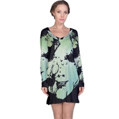 Spirit Of Woods Long Sleeve Nightdresses