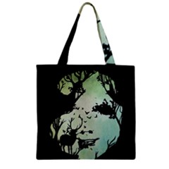 Spirit Of Woods Zipper Grocery Tote Bags