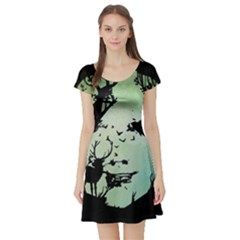 Spirit Of Woods Short Sleeve Skater Dresses