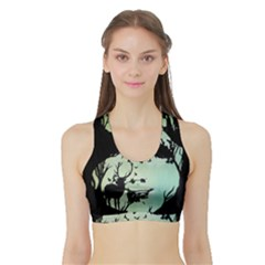 Spirit Of Woods Women s Sports Bra with Border
