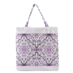 Geometric Pattern Nature Print  Grocery Tote Bags