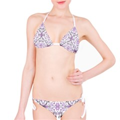 Geometric Pattern Nature Print Bikini Set