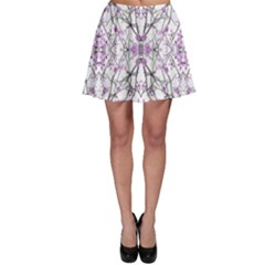 Geometric Pattern Nature Print Skater Skirts