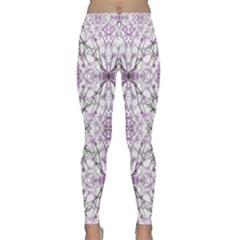 Geometric Pattern Nature Print Yoga Leggings