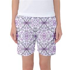 Geometric Pattern Nature Print Women s Basketball Shorts