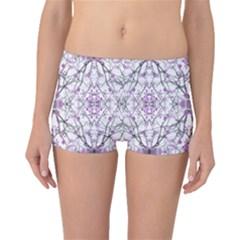 Geometric Pattern Nature Print Boyleg Bikini Bottoms