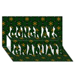 Cute Pretty Elegant Pattern Congrats Graduate 3D Greeting Card (8x4)