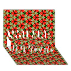 Lovely Trendy Pattern Background Pattern YOU ARE INVITED 3D Greeting Card (7x5)