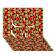 Lovely Trendy Pattern Background Pattern Clover 3d Greeting Card (7x5)