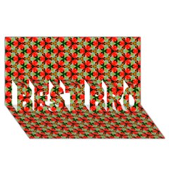 Lovely Trendy Pattern Background Pattern Best Bro 3d Greeting Card (8x4)