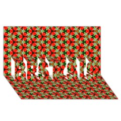 Lovely Trendy Pattern Background Pattern Best Sis 3d Greeting Card (8x4)