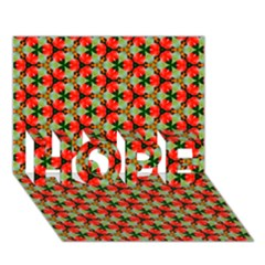 Lovely Trendy Pattern Background Pattern HOPE 3D Greeting Card (7x5)