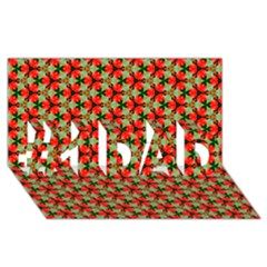 Lovely Trendy Pattern Background Pattern #1 Dad 3d Greeting Card (8x4)