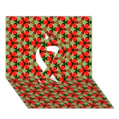 Lovely Trendy Pattern Background Pattern Ribbon 3D Greeting Card (7x5)