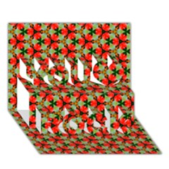 Lovely Trendy Pattern Background Pattern You Rock 3d Greeting Card (7x5)