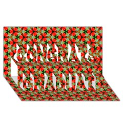 Lovely Trendy Pattern Background Pattern Congrats Graduate 3D Greeting Card (8x4)