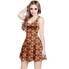 Lovely Trendy Pattern Background Pattern Reversible Sleeveless Dresses