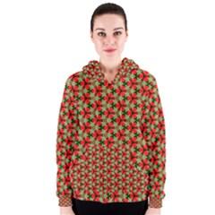 Lovely Trendy Pattern Background Pattern Women s Zipper Hoodies