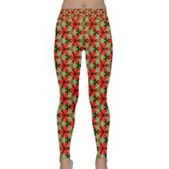 Lovely Trendy Pattern Background Pattern Yoga Leggings
