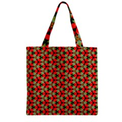 Lovely Trendy Pattern Background Pattern Zipper Grocery Tote Bags