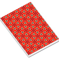 Lovely Orange Trendy Pattern  Large Memo Pads
