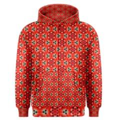 Lovely Orange Trendy Pattern  Men s Zipper Hoodies