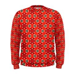 Lovely Orange Trendy Pattern  Men s Sweatshirts