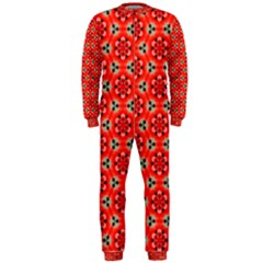 Lovely Orange Trendy Pattern  OnePiece Jumpsuit (Men)