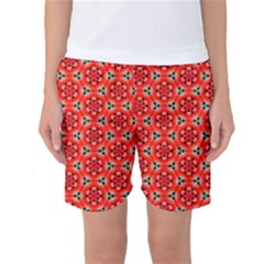 Lovely Orange Trendy Pattern  Women s Basketball Shorts