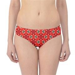 Lovely Orange Trendy Pattern  Hipster Bikini Bottoms