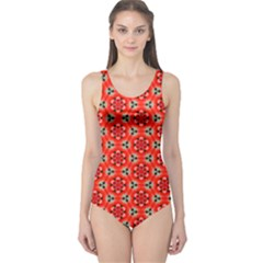 Lovely Orange Trendy Pattern  Women s One Piece Swimsuits