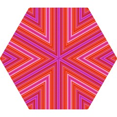 Orange tribal aztec pattern Mini Folding Umbrellas