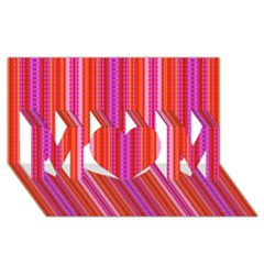 Orange Tribal Aztec Pattern Mom 3d Greeting Card (8x4)